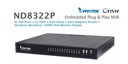 ND8322P NVR Standalone 8 puertos PoE